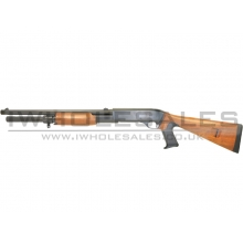 Bison 870 Pump Action Tri Shot Shotgun (Wood Effect - 402B)