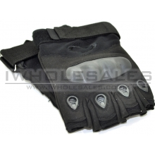 Fingerless Gloves With Nuckle Protection (Black)