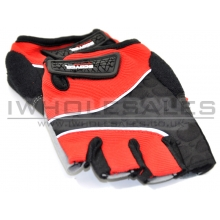 Gloves with Extra Hand and Palm Protection (Breathable Material) (Red)