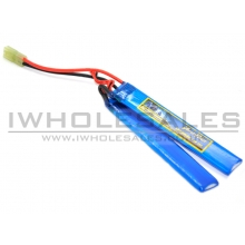 7.4V 1300mAh 15C Continuous Discharge Lipo (2 Way Split) (Mini-Tamiya) Battery