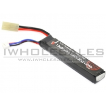 7.4V 1300mAh 25C+ Continuous Discharge Lipo (101mm long) (Mini-Tamiya) Battery