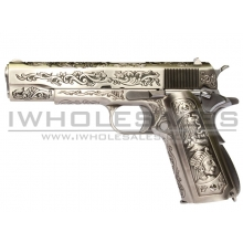 WE 1911 Engraved 'Mehico Druglord' Gas Blow Back Pistol