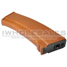 Battleaxe - AK Hi-Cap - 480 Round Magazine - Marui RECOIL AEG (Orange - B37)
