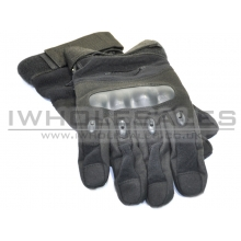 Full Finger Gloves With Nuckle Protection (Black)