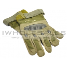 Full Finger Gloves With Nuckle Protection (Green)