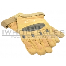 Full Finger Gloves With Nuckle Protection (Tan)