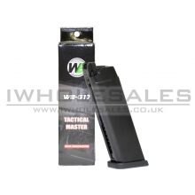 WE 17/18 Series Series Gas Magazine (25 Rounds - ABS - Black)