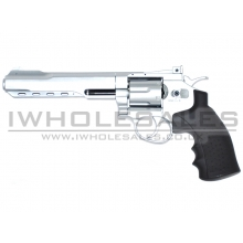 "Huntex 6.0"" Co2 Revolver (4.5mm - Silver - Black)"