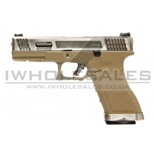 WE Custom Pistol TAN (Silver Slide and Silver Barrel)