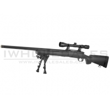 AGM MP002 Sniper Rifle with Scope and Bipod (Black)