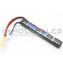 11.1v 1000 mAh 20C+ Continuous Discharge Lipo Battery (1 Way)