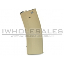 Snow Wolf M4 Flash Magazine (Tan) (350 Rounds)