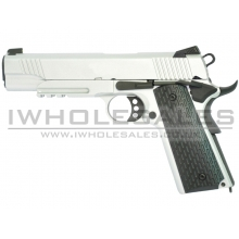Army Armament K-Warrior 1911 Silver Gas Blowback PIstol