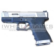 WE Custom Pistol BK (Silver Slide and Silver Barrell)