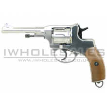 WinGun Nagant M1895 Co2 Revolver (Silver – Full Metal)