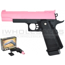 CCCP K-Warrior G6H Metal Pistol with Holster (Pink)
