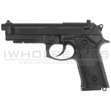 HFC M9 NBB Gas Pistol with Rail (Black - GG-105)