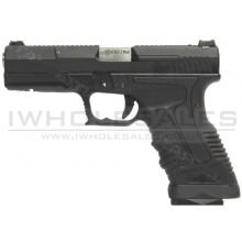 WE GP1799 GBB Pistol (T5 - Black - Silver Barrel - Metal Slide)