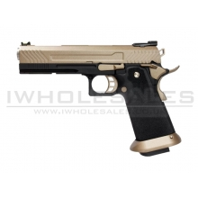 Armorer Works Custom Hi-Capa GBBP (Full FDE Slide - Black Frame - AW-HX1103)