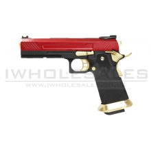 Armorer Works Custom Hi-Capa GBBP (Full Red Slide - Gold Barrel - AW-HX1104)
