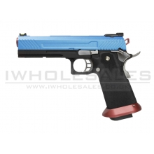 Armorer Works Custom Hi-Capa GBBP (Full Blue Slide - Red Barrel - AW-HX1105)