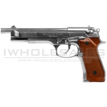 WE M92L Full Metal Gas Blowback Pistol (Silver)