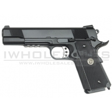WE 1911 Tactical MEU Gas Blowback Pistol (Railed - Black)