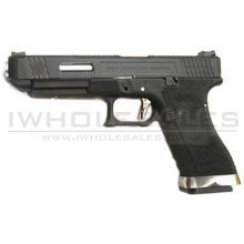 WE Custom 34 Series Pistol (Black Slide and Silver Barrel - Black)
