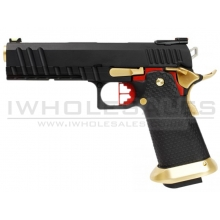 Armorer Works Custom Hi-Capa GBBP (Full Black Slide - Black Frame - Gold Barrel - AW-HX2002)