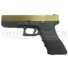 WE 17 Series Titanium Gold Gas Blowback Pistol