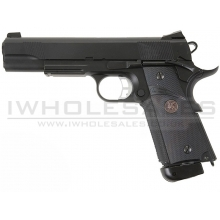 KJWorks 1911 Custom Gas Blowback Pistol (Black - KJW-KP07)