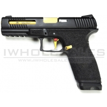 APS Spyder Dual Power Pistol (Black - Gold Barrel - X1-CAP)