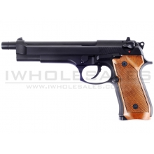 WE M92L Gas Blowback Pistol (Full Metal - Black)