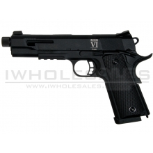 Secutor - Rudis VI - 1911 Custom Pistol (Black Barrel - Co2 Powered - Gas Ready - Black)