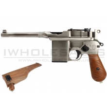 WE 712 Gas Pistol (with Stock & Case in 1 - Silver - WE-712)