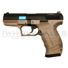 WE 'God of War' GBB Pistol (Black Metal Side - Tan Body)