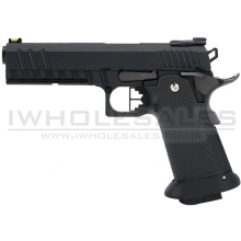 Armorer Works Custom Black Ace Hi-Capa GBBP (Full Black Slide - Black Frame - Black Barrel - AW-HX2003)