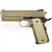 WE Desert Warrior 4.3 GBB Pistol (Tan)