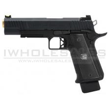 Salient Arms International by EMG 2011 DS 5.1 Gas Pistol (Gold Barrel - Black - 5.1)