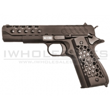 WE 1911 Hex Cut GBB Pistol (Black)