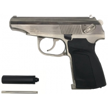 WE Baikal 'Makarov' 654K with Silencer (Collector Edition - Silver)