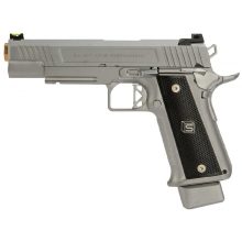 Salient Arms International by EMG 2011 DS 5.1 Gas Pistol (Gold Barrel - Silver - 5.1)