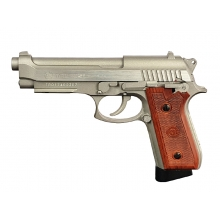 Tauras PT92 Hair Line Silver Co2 Pistol (Full Metal - Cybergun - 210527)