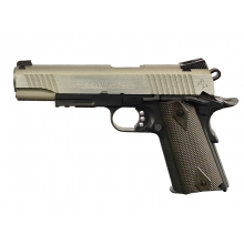 Colt 1911 (Rail) Co2 Blowback Pistol Dual Tone (Silver/Black - Cybergun - 180531)