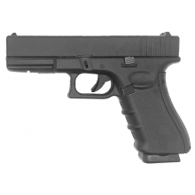 Well 17 Series Co2/Gas Dual Power Pistol (Full Metal - Comes with 2 Mags. - Black)