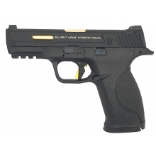 EMG Smith & Wesson M&P9 Gas Blowback Pistol (Licensed - SAI - Black with Competition Gold Trigger)