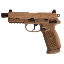 FN Herstal FNX-45 Tactical Gas Blowback Pistol (Tan - Cybergun - 200503)
