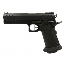 Armorer Works Custom Black Ace Hi-Capa GBBP (Black Slide - Black Barrel - Fully Auto. -  AW-HX2003)