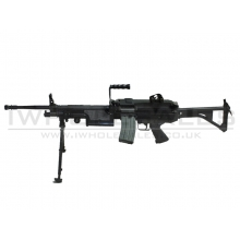 Classic Army M249 MK1 AEG with FREE Drum Magazine (Skeleton Stock) (CA-006M)
