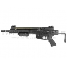 AY AR-57 AEG with M231 (Skeleton) Stock (Black) (A0003)